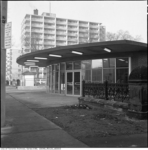 St George Station nearing completion, 1962 (City Toronto Archives)
