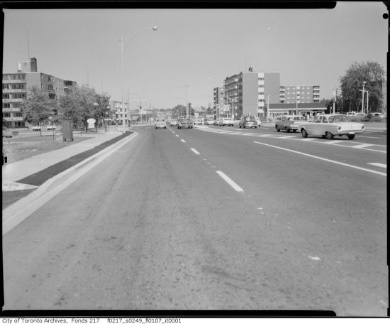 Toronto's suburban landscape: Lawrence Avenue East, 1963 (City of Toronto Archives)
