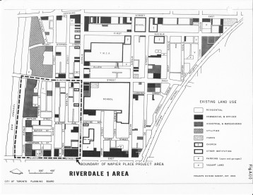 The Napier Place Project Area in South Riverdale, as defined in late 1963.